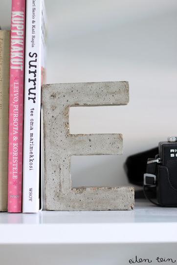 { DIY } 3 idées déco pour de jolies lettres en béton… | décoration & déco | Scoop.it