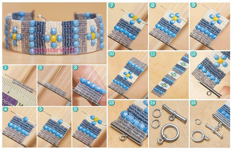 Boncuk dokuma tekniğiyle bileklik yapımı | Takı Tasarım | Pek Marifetli! | KADIN SİTESİ | Scoop.it