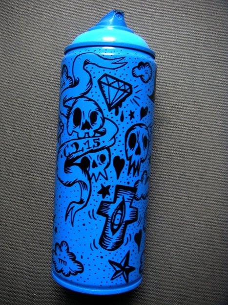 C215 | Blue Cans Project | les Artistes du Web | Scoop.it
