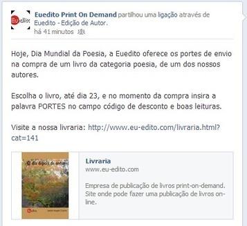 Portes grátis para poesia na EuEdito - Folha em Branco | Pantapuff | Scoop.it