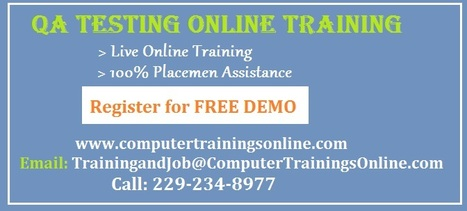 QA Online Training in USA | Software Testing Online Training Course | QA Testing Online Training In USA | Scoop.it