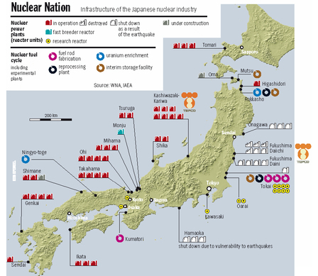 Operational status of Japan's nuclear power plants as of August 26 2011 | Nuclear News | What The Physics? | Scoop.it