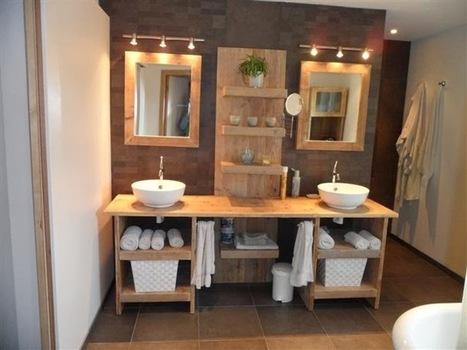 Une salle de bains cocooning inspiration bain - Comment bien ranger une armoire ...