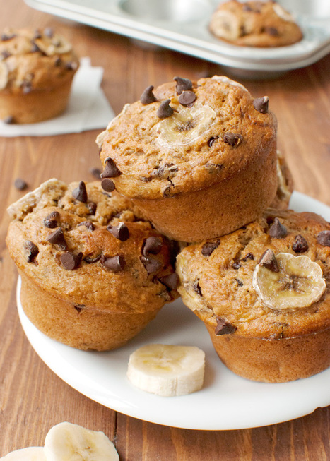 Banana Chocolate Chip Muffins | French Culture - Cuisine, Wine and Dessert | Scoop.it