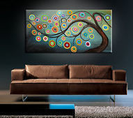 MODERN ABSTRACT HUGE LARGE CANVAS ART OIL PAINTING | Art | Scoop.it
