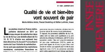 L'Insee mesure l'impact des risques psychosociaux au travail sur le sentiment de bien-être des français | Zoom sur les risques psychosociaux | Scoop.it