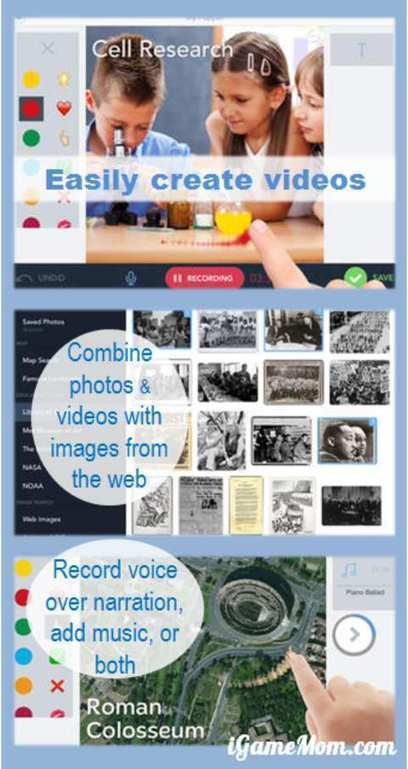 Create Presentations and Video Stories with Shadow Puppet | iGameMom | Edtech PK-12 | Scoop.it