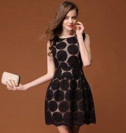 New Sun Flower Sweet Dress [M013] - $63.20 : | The Latest Fashion Dresses | Scoop.it