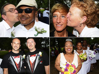 PHOTOS: A Mass Wedding First in Maryland | Gay Entertainment | Scoop.it
