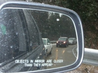 """The Splintered Mind: """"Objects in Mirror Are Closer Than They Appear"""" 