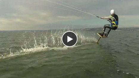 Découvrez le kitefoil, un nouveau sport de glisse complètement ... - Gentside sport | Kitesurf et Kitefoil | Scoop.it