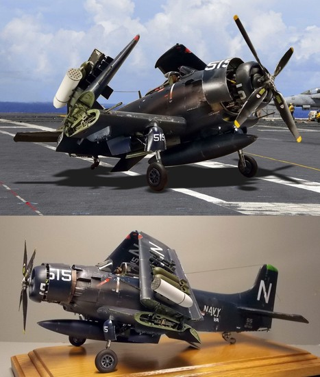 Douglas Skyraider AD-4(A1) | Military Miniatures H.Q. | Scoop.it