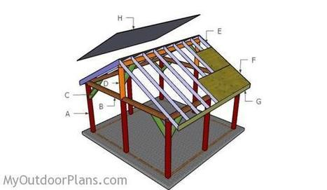 16x16 Outdoor Pavilion Plans | MyOutdoorPlans | Free Woodworking Plans and Projects, DIY Shed, Wooden Playhouse, Pergola, Bbq | Garden Plans | Scoop.it