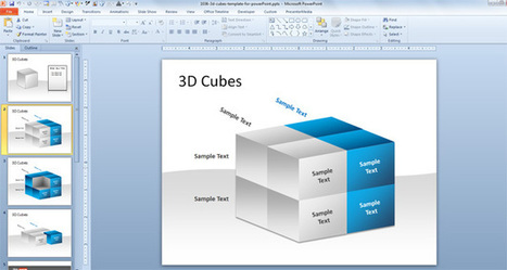 3D Cubes Template for PowerPoint | xns | Scoop.it