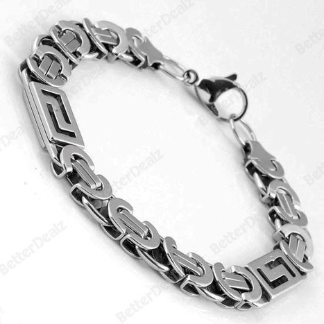 Men's Punk Stunning Silvery Stainless Steel Link Lobster Clasp Bracelet Chain | Fashion Jewelry | Scoop.it