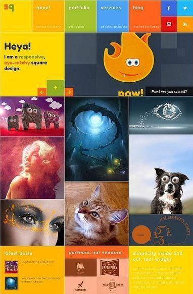 SQ: Square Metro Digital Agency Wordpress & Drupal 7 Theme   Premium iThemes   Themes & Templates   Scoop.it