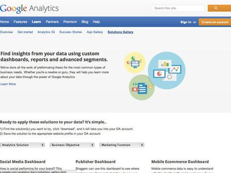 Google Analytics Gallery, une galerie de tableaux de bord pour ne pas se prendre la tête | Time to Learn | Scoop.it