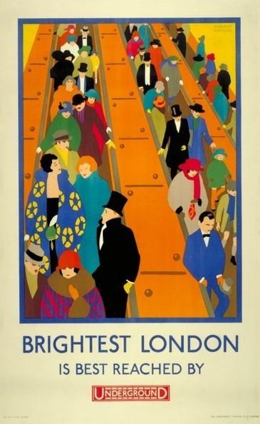 150 ans d'affiches du métro de Londres - La boite verte   Communication-publicite   Scoop.it