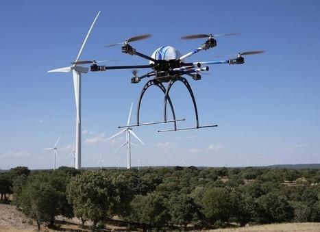 El aracnocóptero para inspeccionar aerogeneradores en la feria ... - REVE | energía tibt | Scoop.it