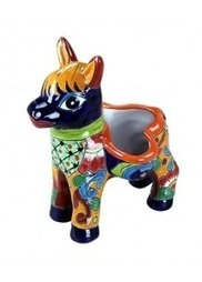 Small Donkey Talavera Flower Pot | Switch Plate Cover and Pottery | Scoop.it