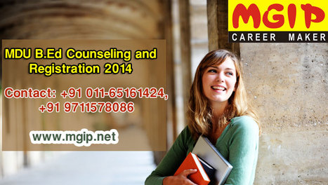 MDU B.Ed Counseling and Registration 2014 | MDU B.Ed Admission | Scoop.it