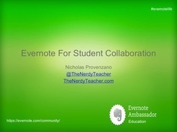 Evernote - for organizing teachers & students | Powerful Learning Practice | Into the Driver's Seat | Scoop.it