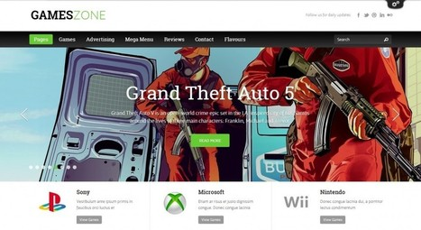GamesZone – Gaming WordPress Theme | eCommerce Website Templates | Scoop.it