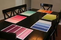 MAKE | Paint Chip Placemats | Color For Your Home | Scoop.it