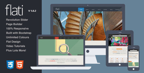 Flati - Responsive Flat Bootstrap WordPress Theme - WordpressThemeDB | WordpressThemeDatabase | Scoop.it