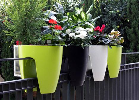 Balcony flower pots   Formidable ideas   Scoop.it