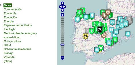 Mapa de los movimientos por una economía ecológica y social en el estado español | Los mapas del #15M | Scoop.it