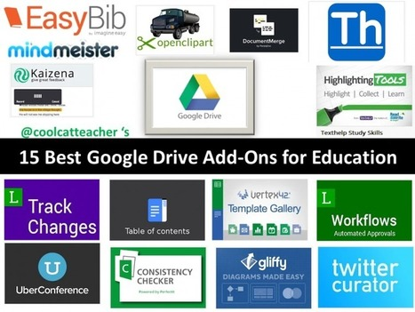 15 Best Google Drive Add-Ons for Education | @coolcatteacher | 21st Century Teaching and Learning Resources | Scoop.it