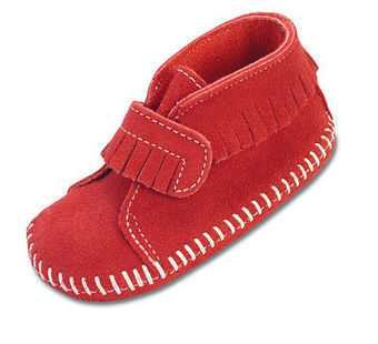 Velcro Front Strap Bootie - Shop Mens, Womens, Childrens Moccasins - The Moccasin Shop | Minnetonka Moccasin Shop | Scoop.it