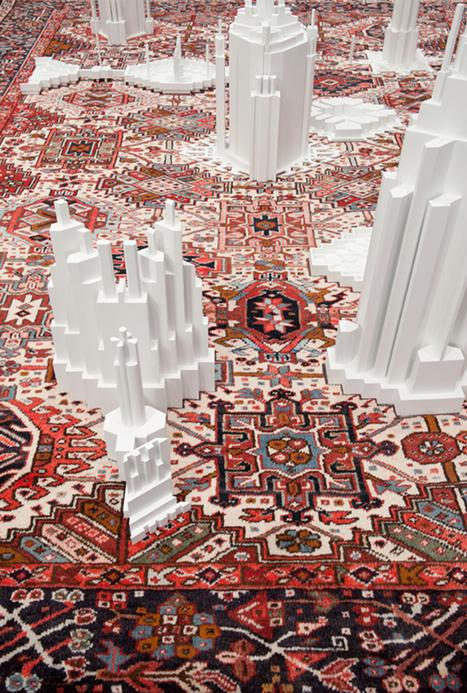 carpet pattern skyscraper sculptures by babak golkar | Ébène SOUNDJATA | Scoop.it