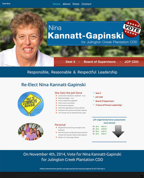Political Candidate web design | Web design | Scoop.it