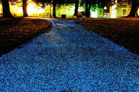 Could Sparkling Glow-in-the-Dark Pavement Replace Street Lights? | Smart Cities & The Internet of Things (IoT) | Scoop.it
