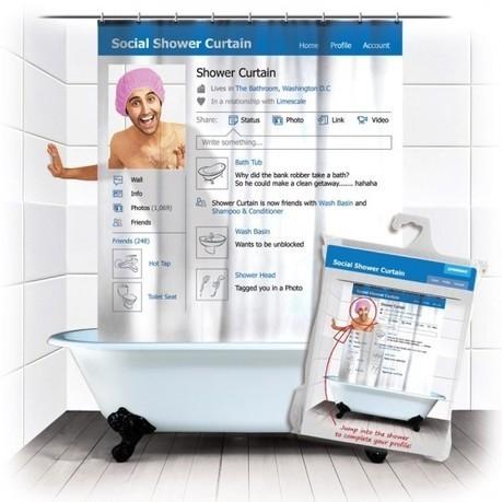Insolite : un rideau de douche social ! | TFL'veille techno | Scoop.it