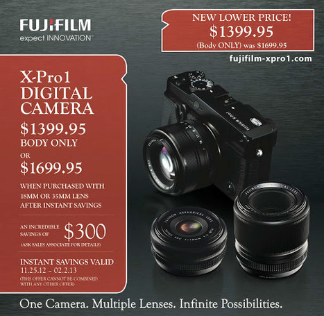 Fuji X-Pro1 camera with a lens is now $600 off | Photo Rumors | fuji X-pro1 | Scoop.it