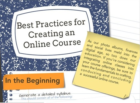 Best Practices for Creating an Online Course | Digital Learning, Technology, Education | Scoop.it