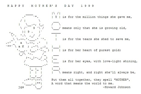 ASCII Art—Holidays and Events—Mother's Day | ASCII Art | Scoop.it