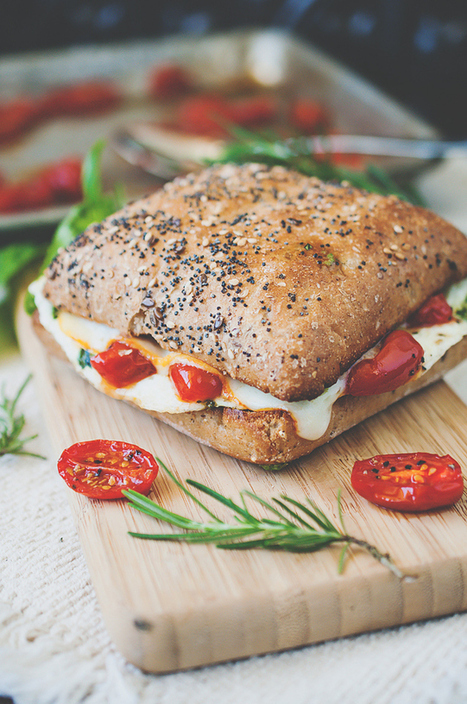 Mediterranean Egg White Breakfast Sandwich with Roasted Tomatoes | The Man With The Golden Tongs Goes All Out On Health | Scoop.it