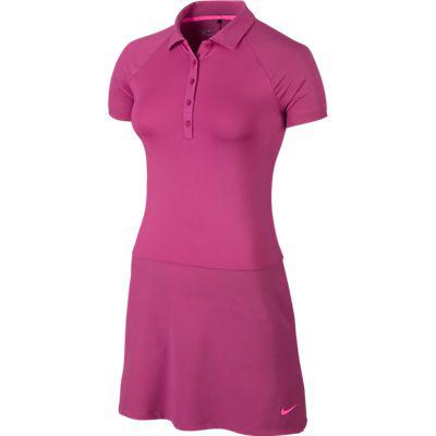 Nike Ladies Short Sleeve Golf Polo Dresses - Hot Pink & Black Lori's Golf Shoppe | Competitive Intelligence | Scoop.it