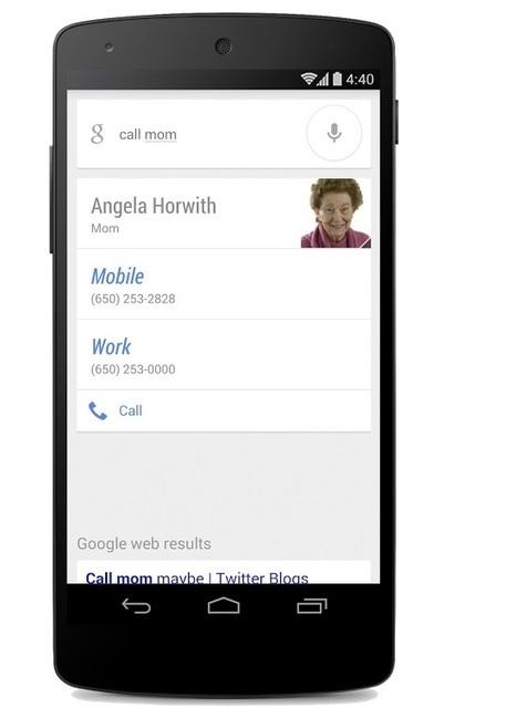 Google Now: adesso si può chiamare ed inviare messaggi interagendo con i contatti | ICT e CLOUD | Scoop.it
