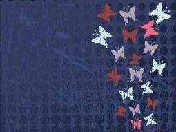 Retro Butterflies and Flowers Design Backgrounds - The Arts Powerpoint Templates   Free PPT Backgrounds   Scoop.it