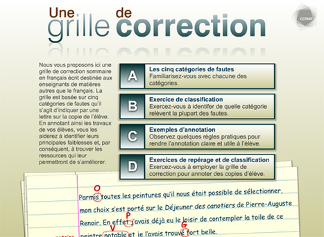 Une grille de correction de fautes pour copie d'élève (OPVG)     Vocabulaire FLE   Scoop.it