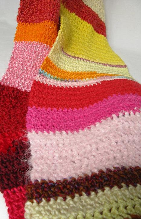 Crochet Bohemian Fashion Remnant Scarf  Multi Color  par sedruola | Fiber Arts | Scoop.it