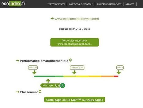 Ecoindex flashe les sites web éco-conçus - Green IT | EcoConception Logicielle | Scoop.it