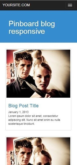 Pinboard blog adaptive grid Boostrap template Isotope plugin | Twitter Bootstrap templates starter KIT free | Scoop.it