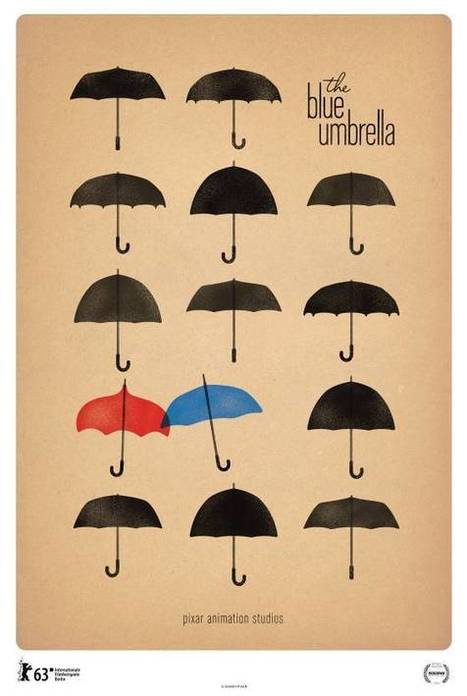 Elegant Poster For Pixar's The Blue Umbrella | Animation News | Scoop.it