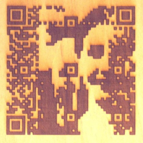 laser cut QR code portraits by Cait Willis | artcode | Scoop.it